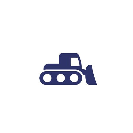 snowplow icon on white, vector
