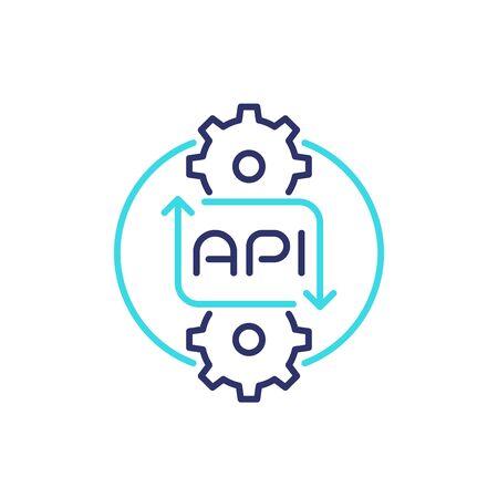 api line icon for web