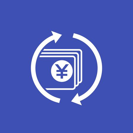 chinese yuan money exchange, vector icon