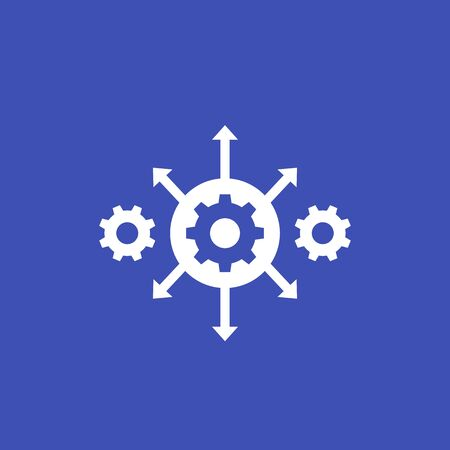 process automation icon with cogwheels