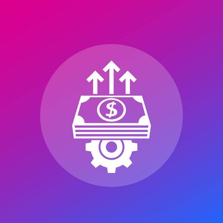 financial efficiency growth vector icon