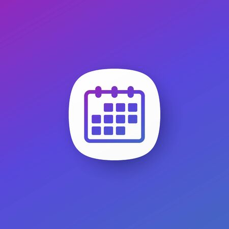 calendar icon for apps, vector