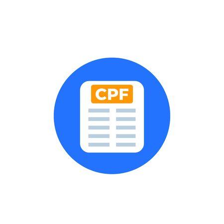 CPF file vector round icon Ilustração