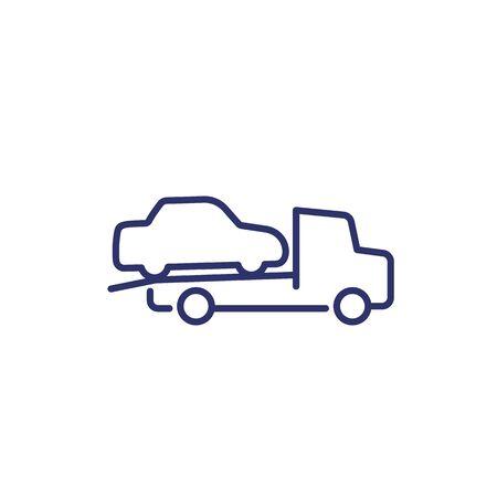 tow truck vector line icon Vettoriali