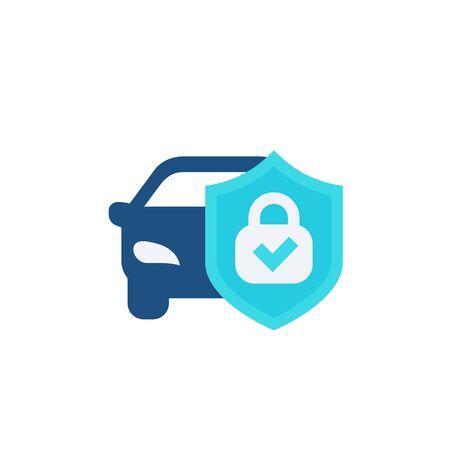 car alarm, protection icon, flat vector