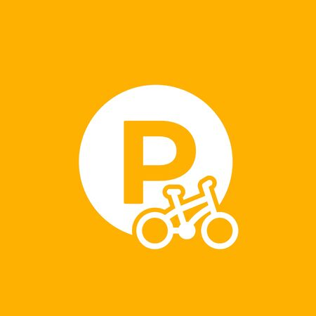 Bicycle, bike parking icon, vector