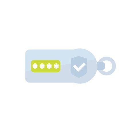security token on white, flat icon