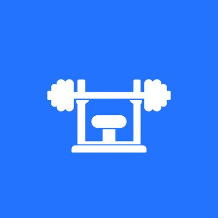 Barbell on the stand icon Ilustração