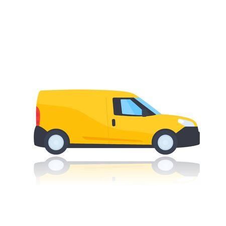 mini van isolated on white, vector Ilustração