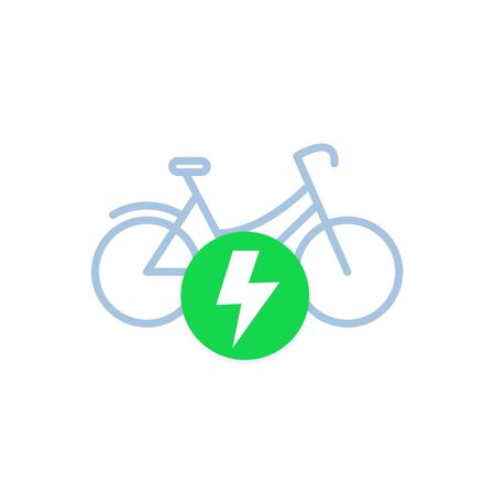 electric bicycle, bike vector icon
