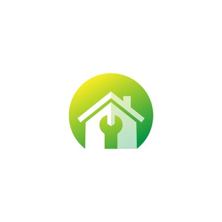 house maintenance service, vector logo Ilustração