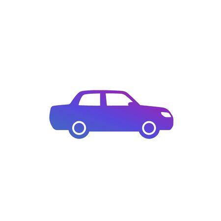 sedan, vector icon on white