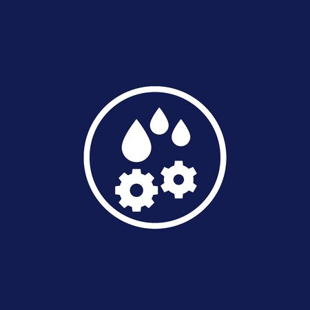 lubricant, oil drops icon, vector Stock Illustratie