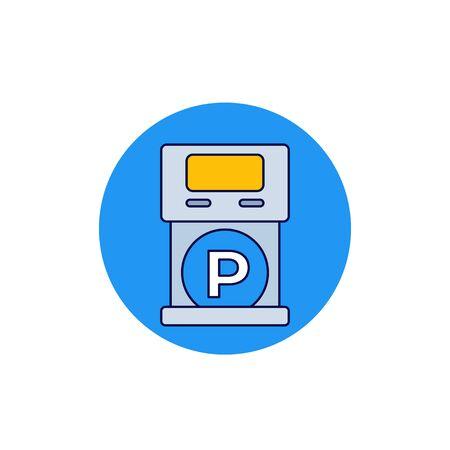 parking machine icon, vector art