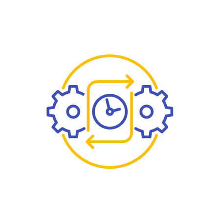 efficiency icon on white, line vector