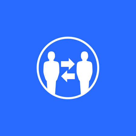 change people, hr vector icon