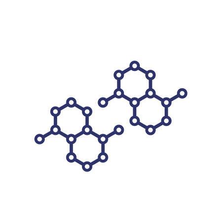 graphene, nano structures vector icon