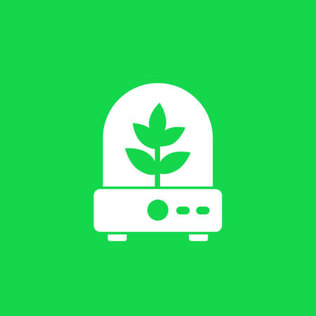 incubator with plant icon, vector