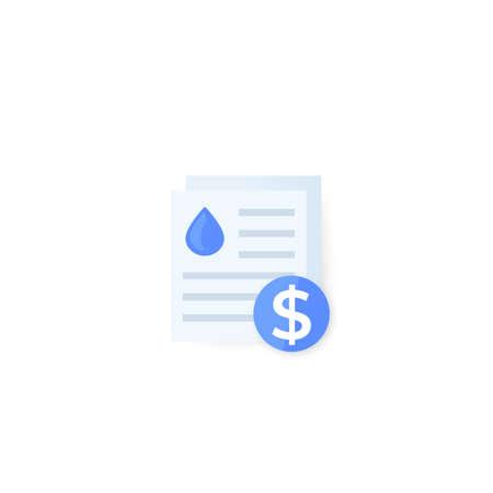 water utility bills, vector icon
