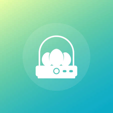 incubator with eggs icon, vector