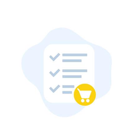 online order, e-commerce icon, flat design