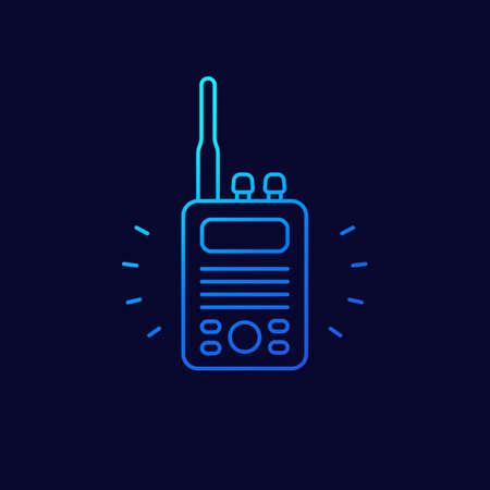 radio set icon, linear design