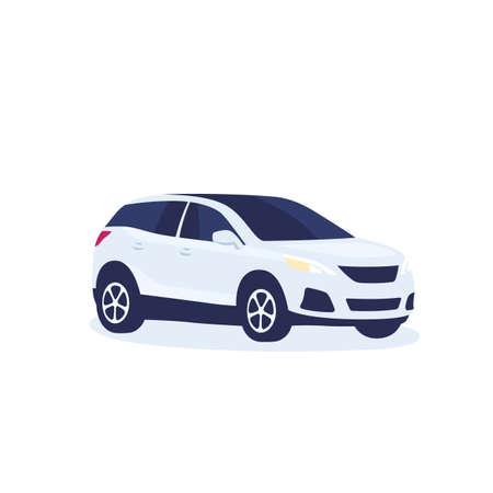 modern suv car, vector illustration