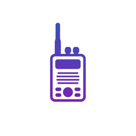 radio set, portable transceiver icon on white