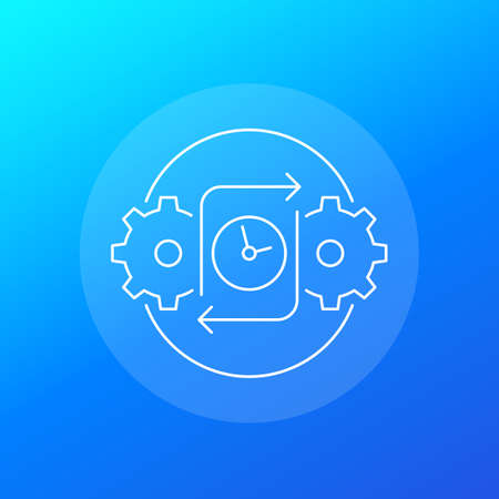 efficiency icon for web, linear vector