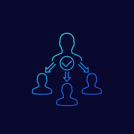 delegate, task delegation icon, linear