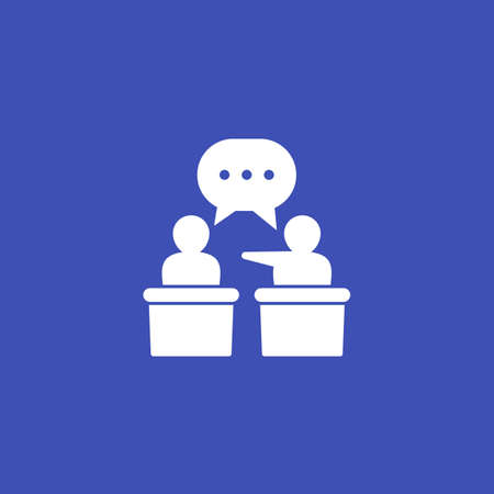 debate or discussion, vector icon
