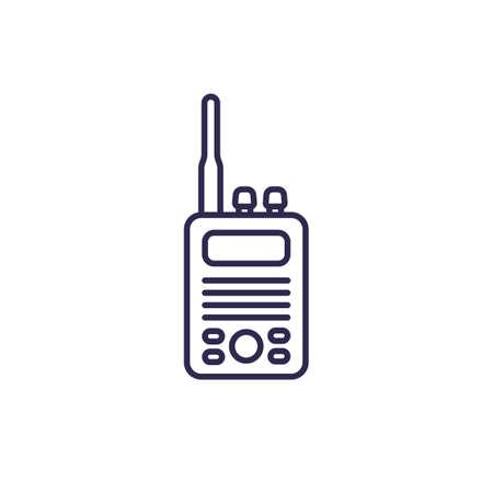 radio set icon, line vector