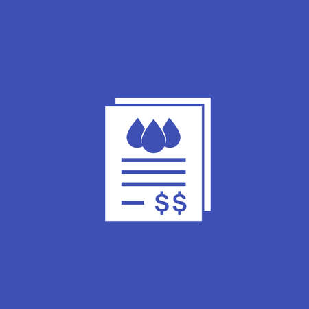 water utility bills icon, vector