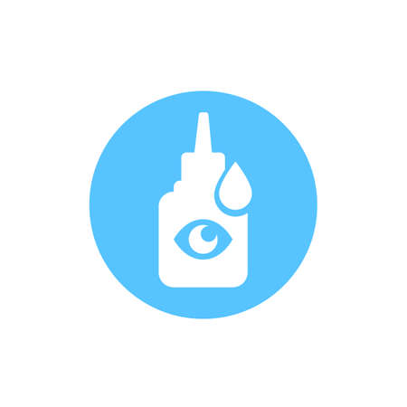 Eye drops bottle vector icon