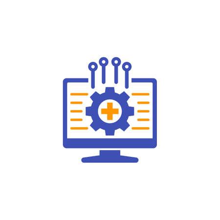 framework, vector icon on white
