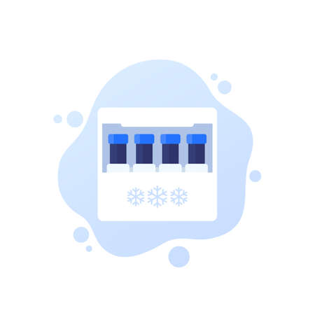 sperm bank, samples in container vector icon