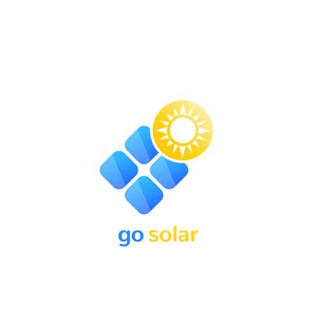 solar panel vector logo icon