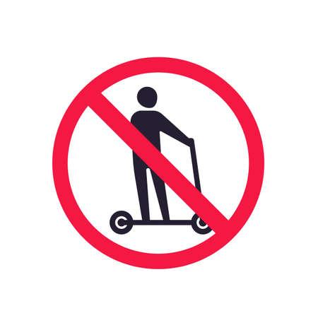 no kick scooter vector sign Ilustração Vetorial