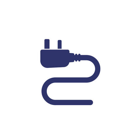 uk electrical plug, vector icon on white