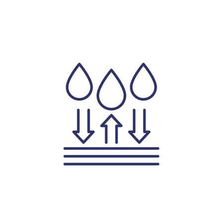 waterproof or water resistant vector line icon