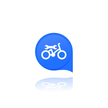bicycle, bike repair service, vector logo, icon