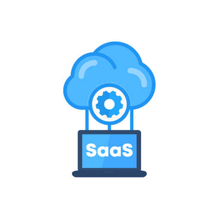 Saas, Software as a service vector icon