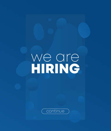 We are hiring banner for social media, blue