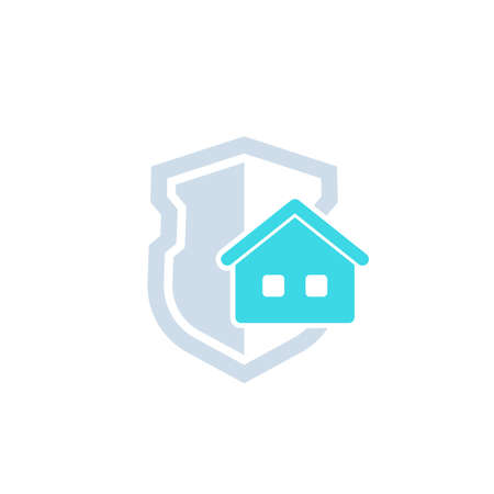 House insurance icon with shield and home