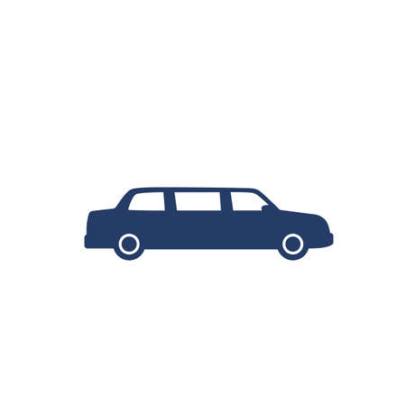 limo car icon on white