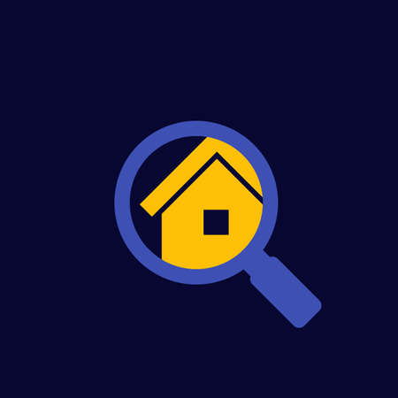 house or apartment search icon, vector