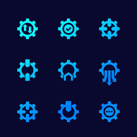 Integration icons for web, vector