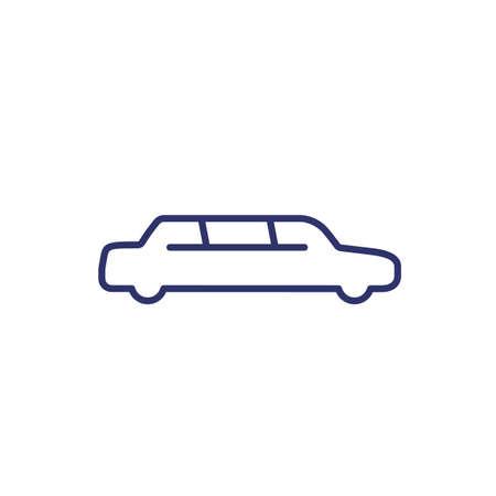 limo car, limousine line icon