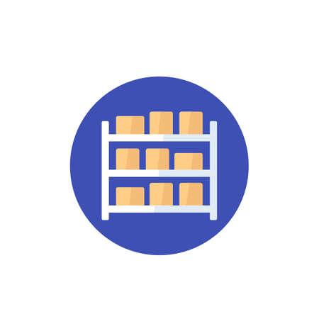 inventory icon in flat style