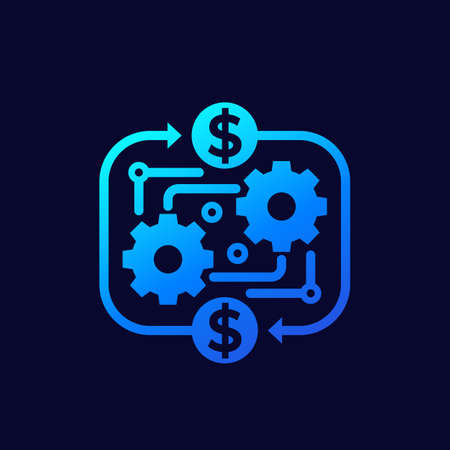 costs optimization, business efficiency, financial process icon